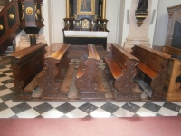 Church sv.Rocha - benches and kneelers